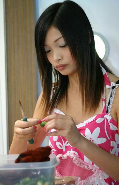 Korte Kapsels Aziatische Vrouwen