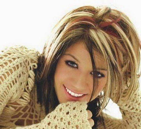 Blonde and red highlights in brown hair kelly clarkson