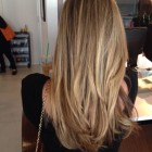 Donkerblond met highlights
