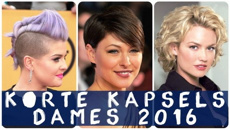Korte kapsels winter 2017 dames
